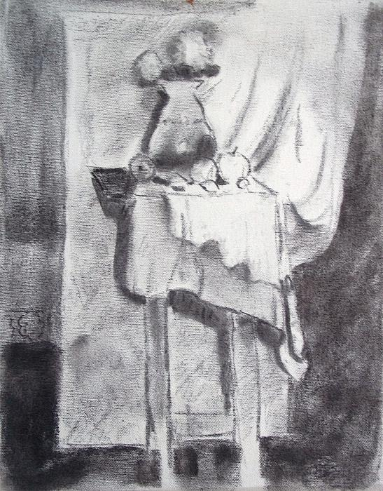 Table Drawing - Color Me by Bill Joseph  Markowski