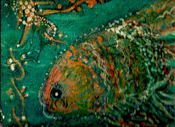 Color Painting - Colorful Gloriful Underwater Delight by Anne-Elizabeth Whiteway