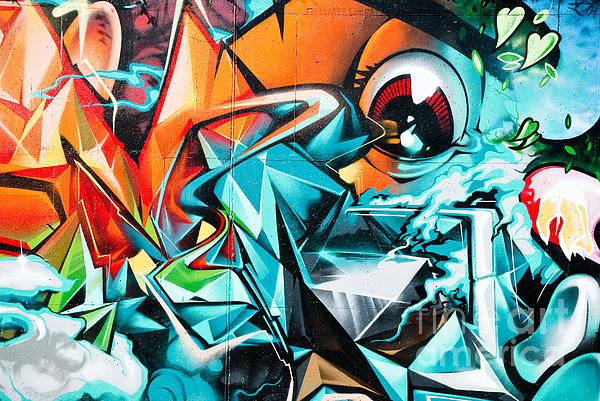 Colorful Graffiti Fragment Painting By Yurix Sardinelly