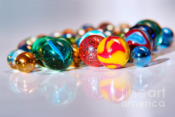 Abstract Photograph - Colorful Marbles by Carlos Caetano