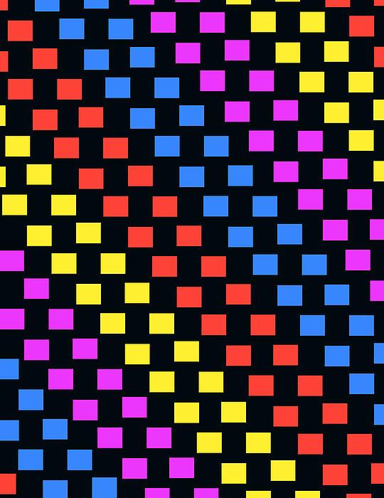 Louisa Digital Art - Colorful Squares by Louisa Knight