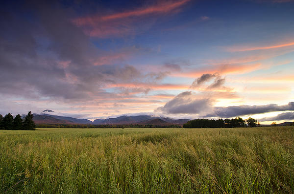 Adirondack Photograph - Colorful Sunset Over The High Peaks Wilderness In Adirondack Park - New York by Brendan Reals