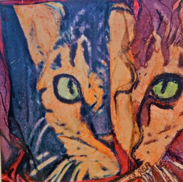 Cat Painting - Colors Of A Cat by Ruth Edward Anderson