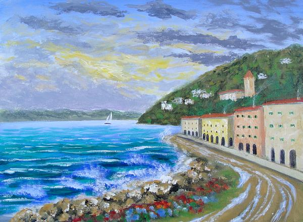 Amalfi Coast Painting - Colors Of The Riviera by Larry Cirigliano