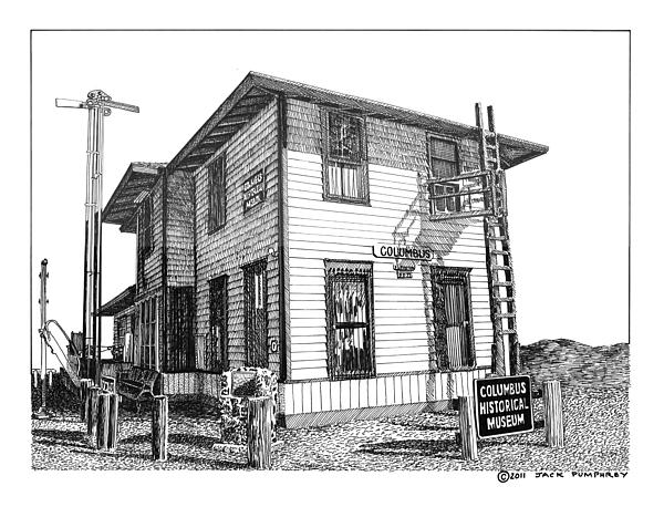 Columbus New Mexico  Drawing by Jack Pumphrey