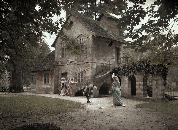 Outdoors Photograph - Company Members Reenact Life by Gervais Courtellemont