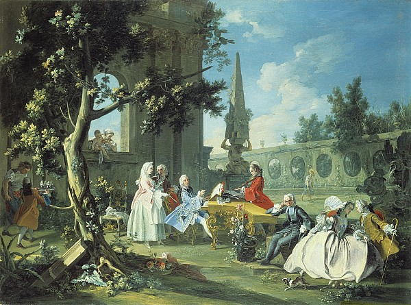 Concert Painting - Concert In A Garden by Filippo Falciatore