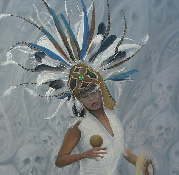 History Paintings Painting - Conchera En Trance 2 by Angel Ortiz
