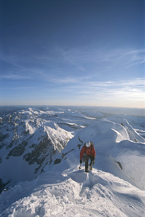 North America Photograph - Conrad Anker Summits A Mountain by Jimmy Chin