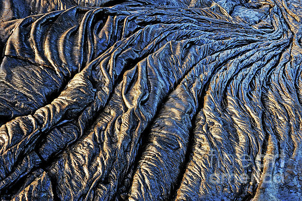 Environment Photograph - Cooled Pahoehoe Lava Flow by Sami Sarkis