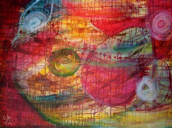 Abstract Painting - Cosmic Eggs by Oriya Rae