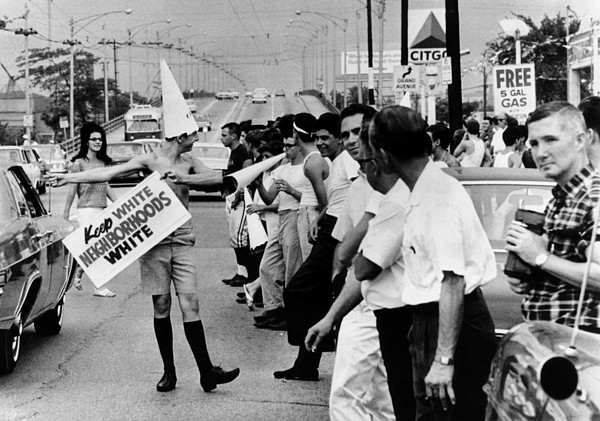 History Photograph - Counter Demonstrators Against Open by Everett