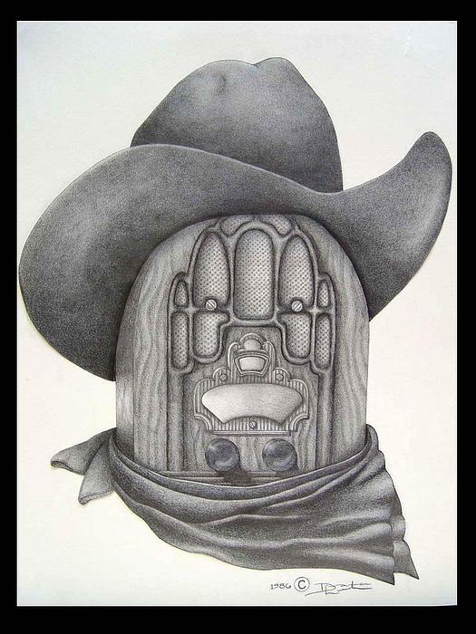 Radio Drawing - Country Radio by Diana Lehr