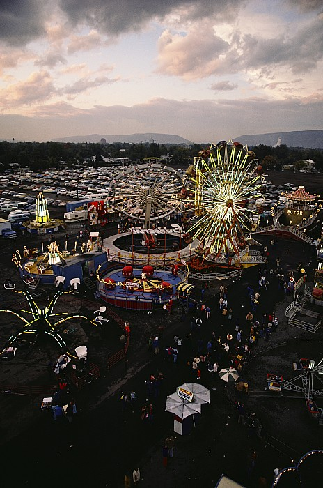 North America Photograph - County Fair, Yakima Valley, Rides by Sisse Brimberg
