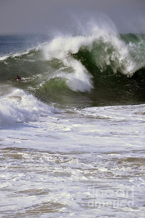 Wave Photograph - Crashing Wave by Timothy OLeary