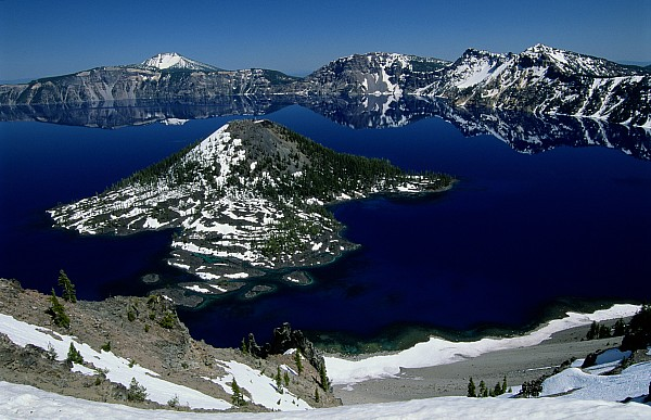 Crater Lake Photograph - Crater Lake National Park, Oregon by Raymond Gehman
