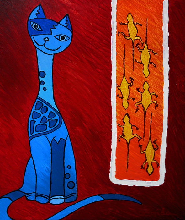 Animals Painting - Crazy Nui by Zaida Ortega