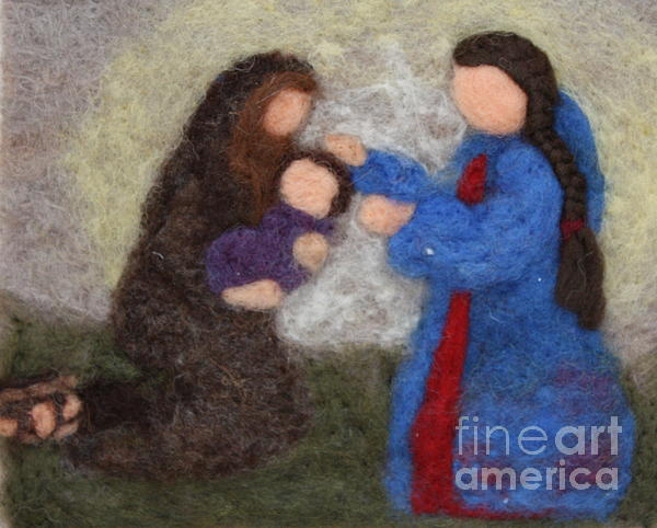 Needle Tapestry - Textile - Creche Scene by Nicole Besack