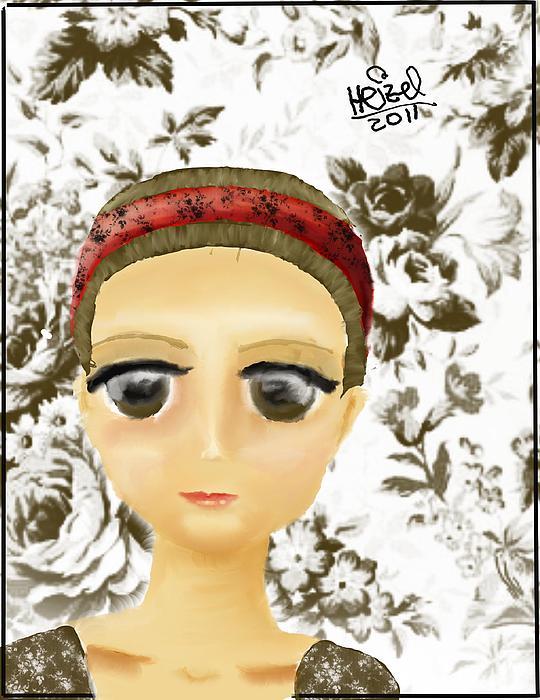 Digital Painting - Creepy Face by Heizel Gonzalez