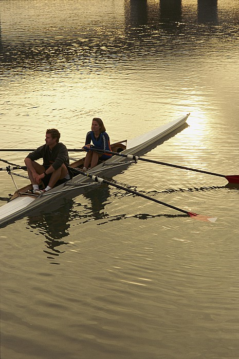 Subject Photograph - Crew Model Released Rowers Take A Break by Phil Schermeister