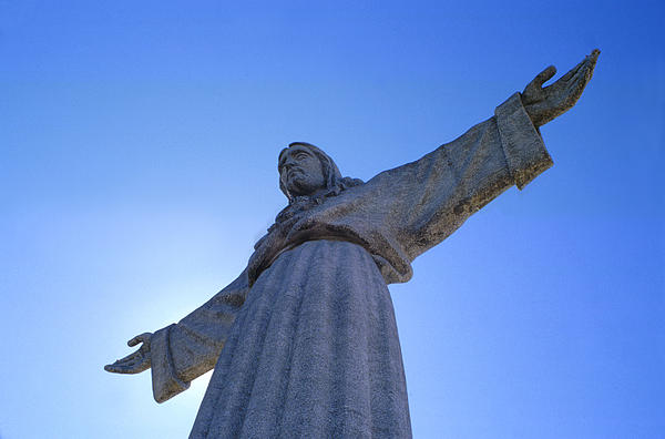 Catholic Monument Of Jesus Christ Inspired By The Christ The Redeemer Statue In Rio De Janeiro Sculpture - Cristo Rei by Anonymous