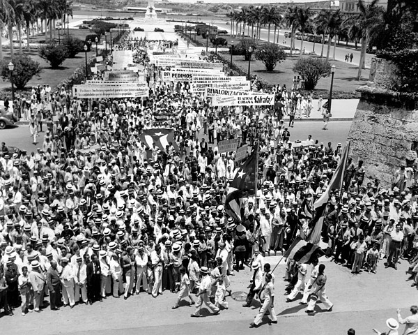 History Photograph - Cuban Political Demonstration Supported by Everett