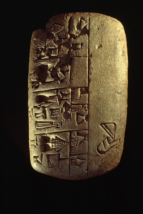 Day Photograph - Cuneiform Writing Describes Commodities by Lynn Abercrombie