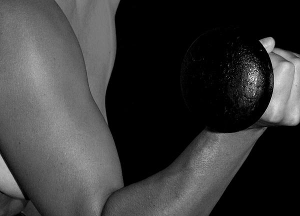 Dumbbell Photograph - Curl by Craig Carlson