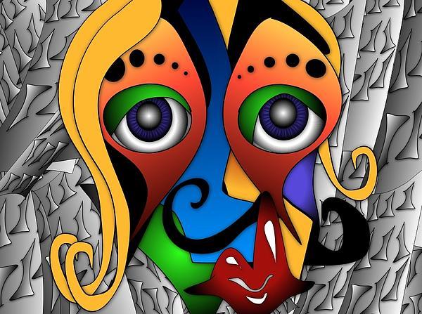 Sci-fi Painting - Cyborg by Artzilla Ink