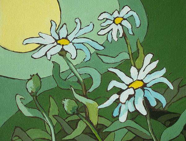 Daisy Painting - Daisy Dance by Sandy Tracey