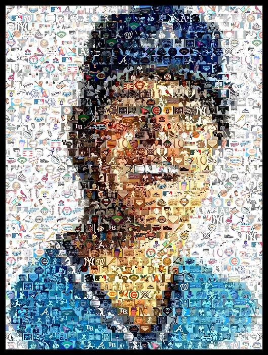 Atlanta Braves Digital Art - Dale Murphy Mosaic by Paul Van Scott