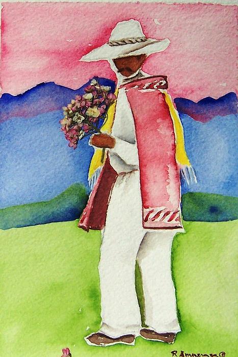 Southwest Painting - Damien by Regina Ammerman