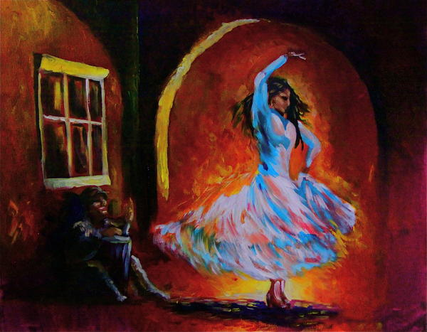 Acrylic Painting - Dancing In The Square by Jerry Frech