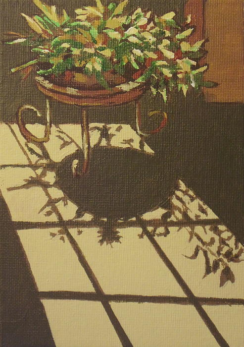 Plant Painting - Dancing Light by Sandy Tracey