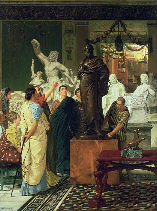 Dealer Painting - Dealer In Statues  by Sir Lawrence Alma-Tadema