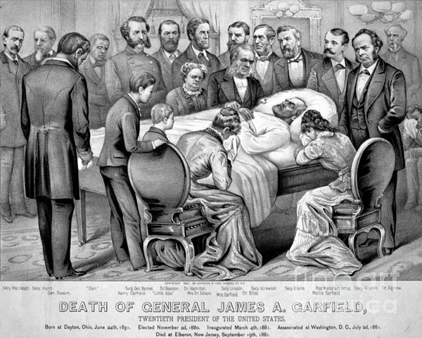 Government Photograph - Death Of Garfield, 1881 by Photo Researchers