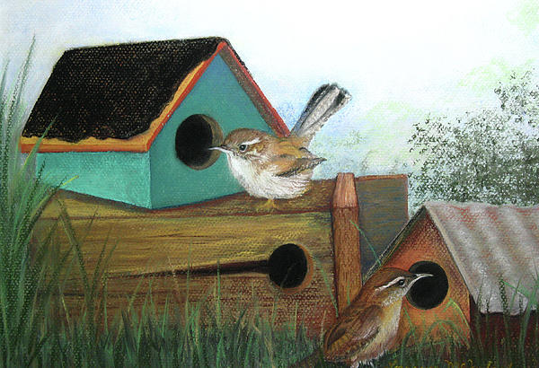 Bird Pastel - Decisions Decisions by Lorraine McFarland
