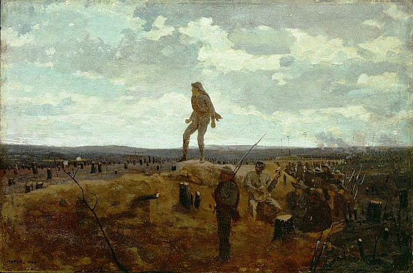 Defiance Painting - Defiance - Inviting A Shot Before Petersburg by Winslow Homer