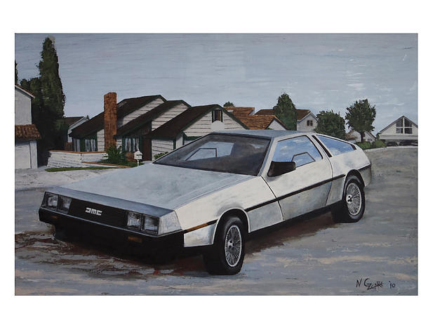 Sports Cars Painting - Delorean by Nate Geare