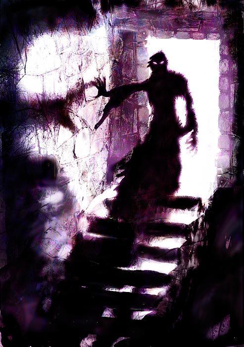Shadow Digital Art - Descent by Mark Conrad