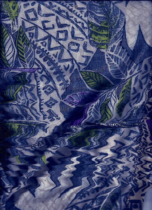 Blues Painting - Designs With Blues by Anne-Elizabeth Whiteway