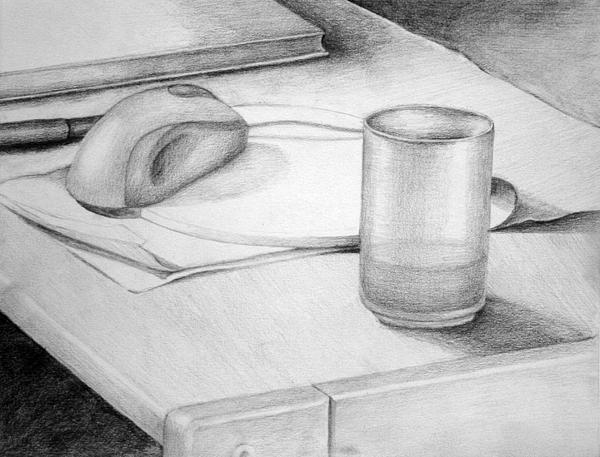 Glass Drawing - Desk by Morka Mold