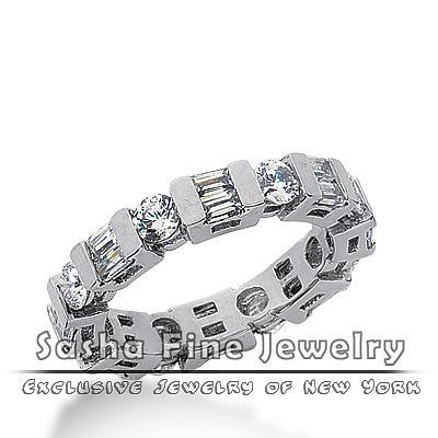 Wedding Bands Jewelry - Diamond Eternity Wedding Band by Sasha Fine Jewelry