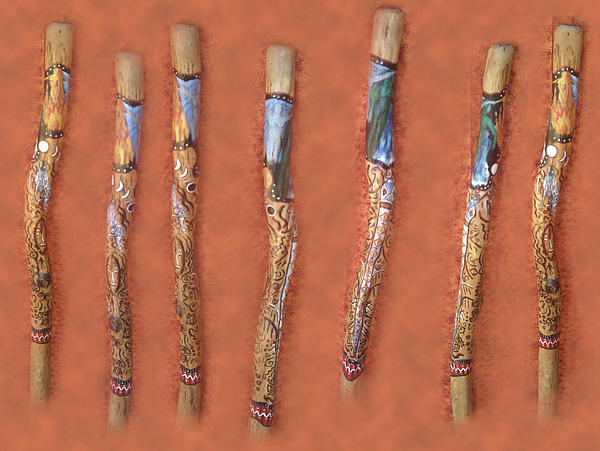 Didgeridoo Painting - Didgeridoo by Janice T Keller-Kimball