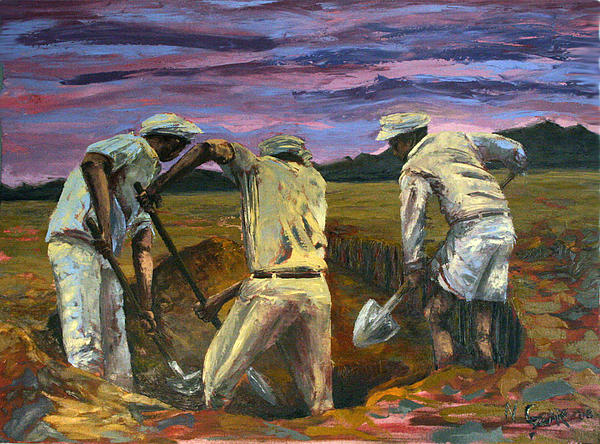 Diggers Painting - Diggers by Nate Geare