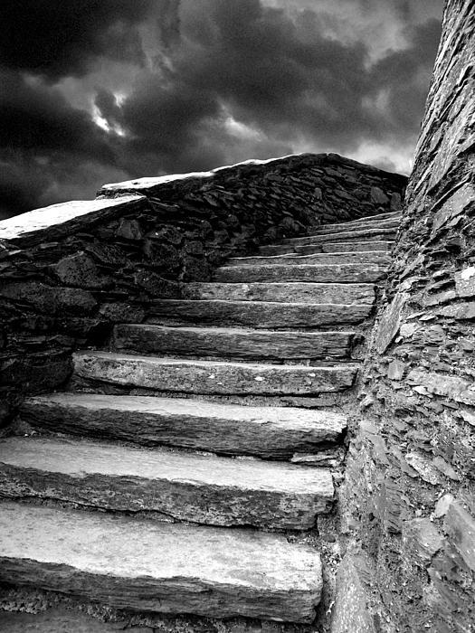 Castle Photograph - Dolbadarn Castle Steps by Duncan Rowe