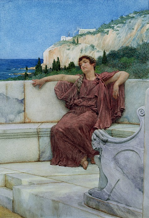 Far Painting - Dolce Far Niente by Sir Lawrence Alma-Tadema