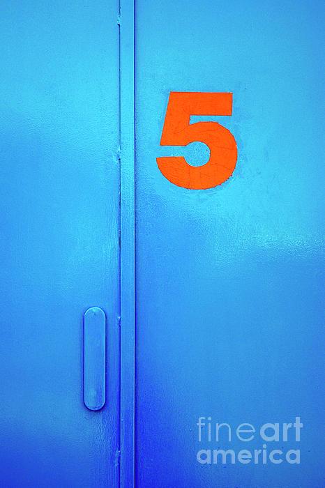 Blue Photograph - Door Five by Carlos Caetano