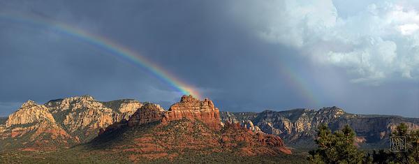 Dan Turner Digital Art - Double Rainbow Over Sedona by Dan Turner