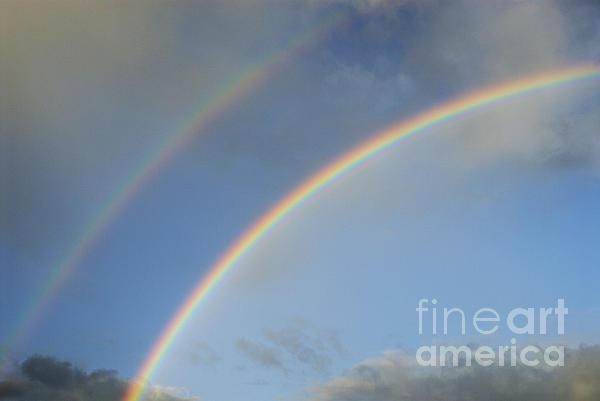Awe Photograph - Double Rainbow by Sami Sarkis